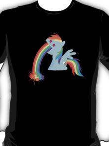 Rainbow Dash Rainbow Vomit T-Shirt
