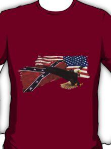 Confederate Flag, US Flag, Bald Eagle,Patriotic T-Shirt