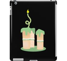 Green birthday cake with candle twirls iPad Case/Skin