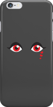 Red eyes with heart tears  by jazzydevil