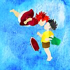 Ponyo and Sosuke by foreverwars