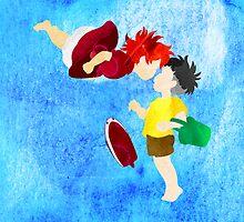 Ponyo and Sosuke by foreverwars