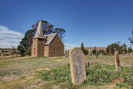 Church near Cooma NSW  Australia  by Kym Bradley