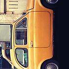 yellow car by theonlynonam