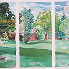 Barns at the Weir Farm by Caroline  Hajjar Duggan
