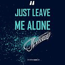 Just Leave Me Alone! - iPhone cover - Kimi Raikkonen by evenstarsaima