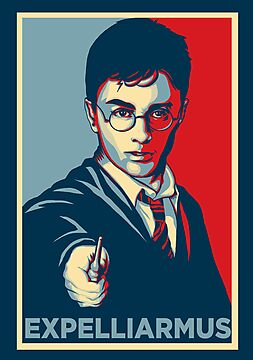 Expelliarmus Harry Potter Daniel Radcliffe Shirt - In Obama Hope Style by spacemonkeydr