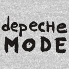 Depeche Mode : I Feel You font - black by Luc Lambert