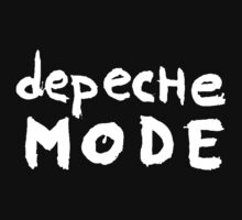 Depeche Mode : I Feel You font - white by Luc Lambert