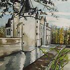 Chateaux Chennenceaux  by Caroline  Hajjar Duggan
