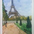 Eiffel Tower, Paris France  by Caroline  Hajjar Duggan