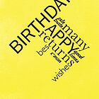 Typographic Birthday Greeting by rperrydesign