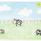 Cows on the pasture by Jujudraws
