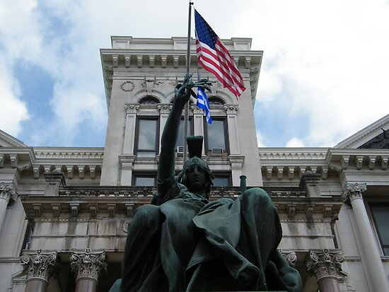 August Jersey City, New Jersey, Soldiers and Sailors Monument, Jersey City City Hall,  by lenspiro
