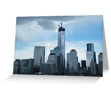 The New World Trade Center Dominates the Lower Manhattan Skyline, New York City Greeting Card