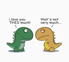 Dinosaur love by hazzaclothing