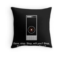Hal 9000 Minimalist DAVE?! Throw Pillow