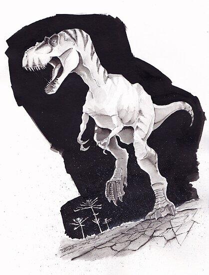 Sprinting Gorgosaurus libratus by Loukash
