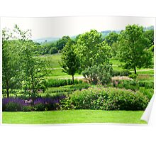 English Countryside - Hyde Hall, Essex Poster