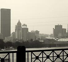 City of Pittsburgh in B&W by Jim Garasich