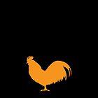 Rooster cock cockerel in orange by jazzydevil