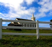 Country Church by Barbara  Brown
