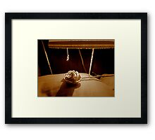 Come To Bed Darling xx Framed Print