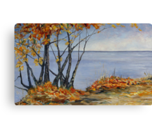 Sliced with a Tear a large Canadian Landscape painting Canvas Print