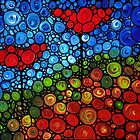 The Roots Of Love Run Deep - Colorful Mosaic Poppy Art by Sharon Cummings