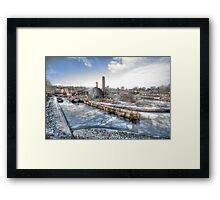 Barges on Ice Framed Print