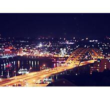 Night Bridge Photographic Print