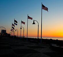 Myrtle Beach Boardwalk Sunrise by donaldhovis