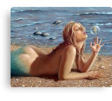 The Mermaid's friend Canvas Print