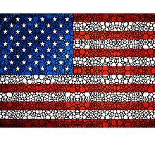 American Flag - USA Stone Rock'd Art United States Of America Photographic Print