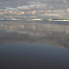 Peregian Beach reflections 2 by Morag Anderson