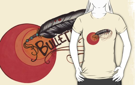 bulletproof, feather warrior shirt by resonanteye