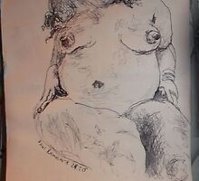 Female Nude I -(290313)- A5 sketchpad/Black Ink Pen by paulramnora