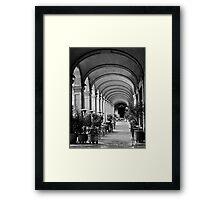 Siesta time at Placa Reial (B+W) Framed Print