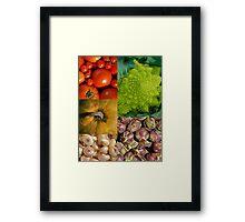 Five Vegetables Framed Print