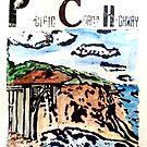 Pacific Coast Highway Print by Caroline  Hajjar Duggan