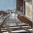 Brooklyn Train, Silkscreen  by Caroline  Hajjar Duggan