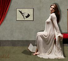 Whistler's mother tires of reading! by David Kessler