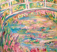 Monet's Pond and White Bridge by artqueene