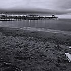 Paignton Pier b/w by Lissywitch