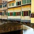 Ponte Vecchio detail in Florence Italy by kirilart