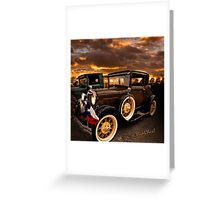 Model A Coupe After The Parade Has Passed Greeting Card