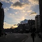 Grassmarket with Clouds by Talia Felix