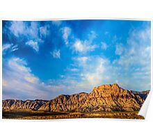 Red Rock Canyon - 'Neath a Blue, Blue Sky Poster