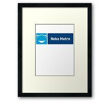 Neko Metro Framed Print