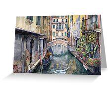 Italy Venice Trattoria Sempione Greeting Card